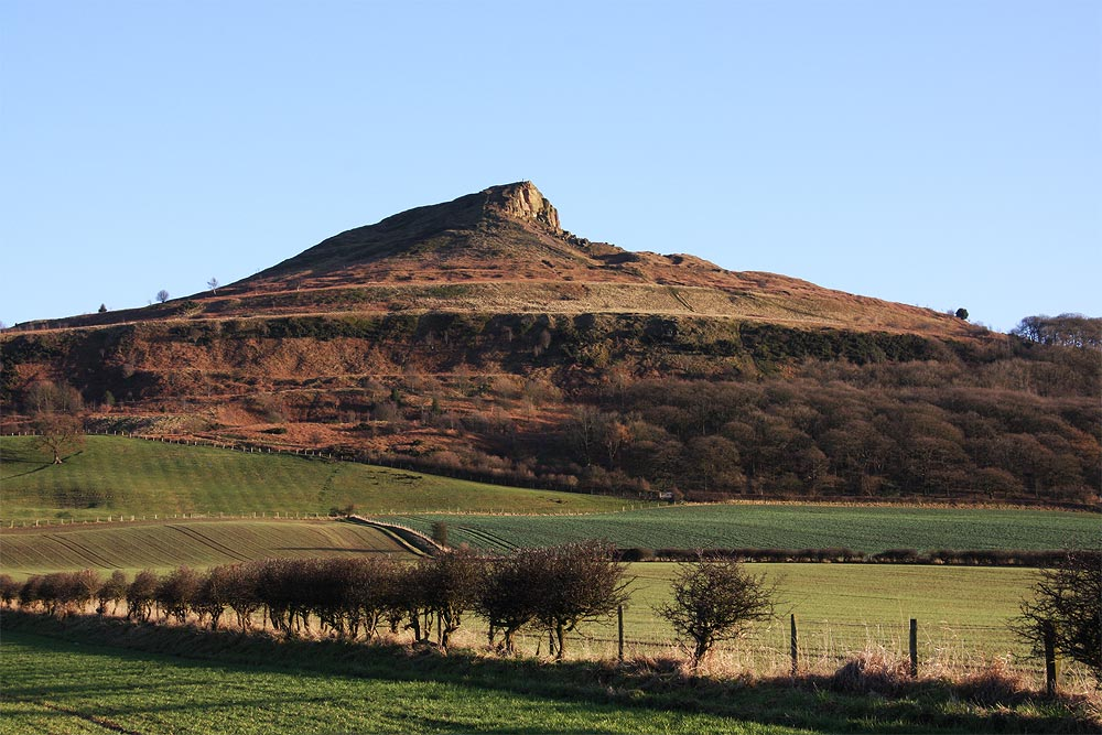 Rosebury Topping in sunshine where the young Captain Cook used to adventure up