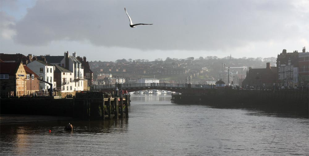 A bridge in Whitby, North Yorkshire