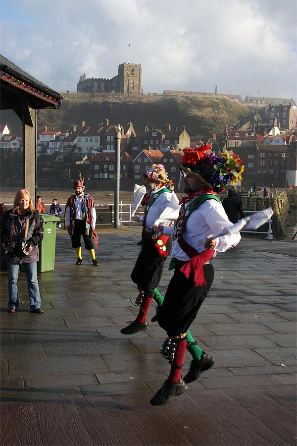 Morris dancers in Whitby
