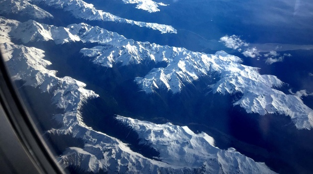 Flying over the South Island of NZL